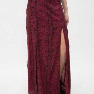 Billabong Never Look Back Maxi Skirt Sz S